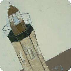 13 février ~ dans la lumiere bleue du phare 2008 40x40